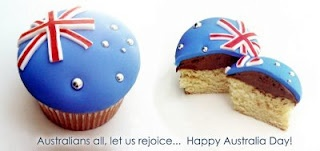 Australia day cup cakes