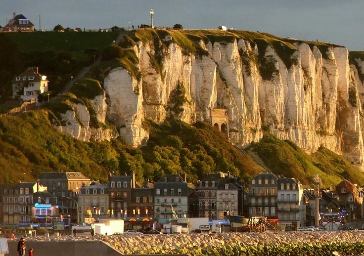 Tréport, France. Gorgeous coastal town in Normandy province.