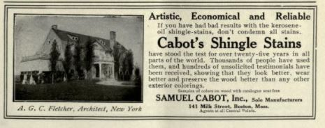 Cabot Stain ad, 1913