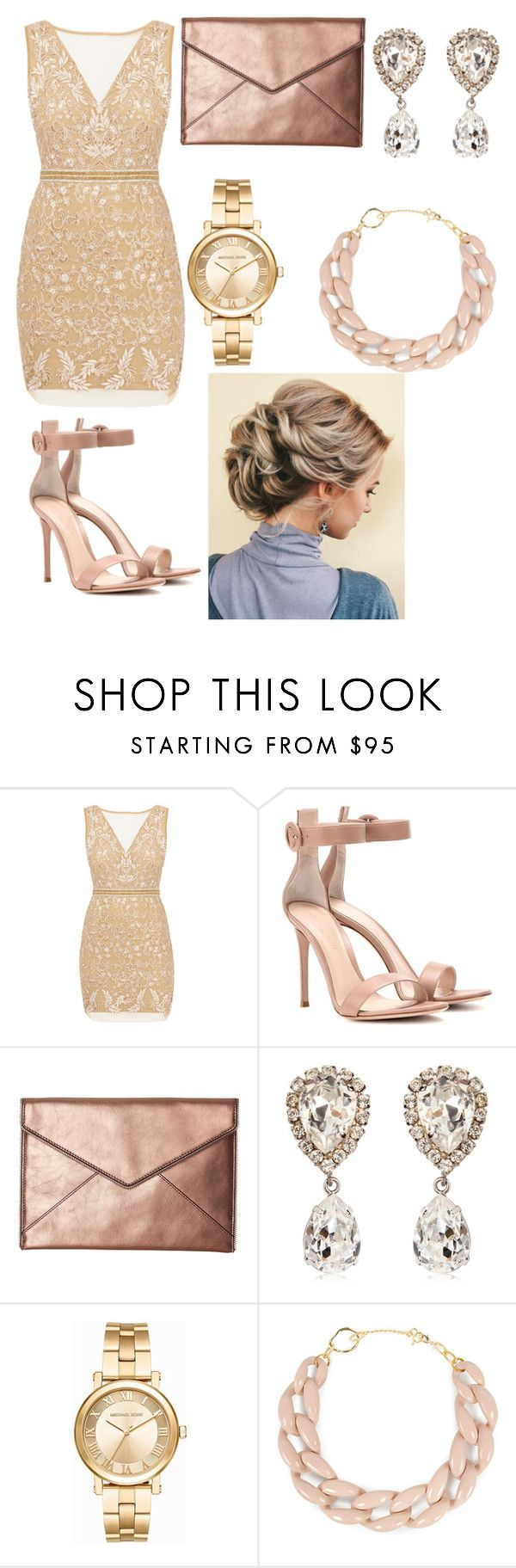 """Red carpet look"" by amy-chavez-1 ❤ liked on Polyvore featuring Nicole Miller, Gianvito Rossi, Rebecca Minkoff, Dolce&Gabbana, Michael Kors and DIANA BROUSSARD"