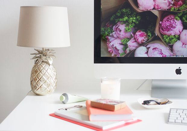 SPRUCE UP YOUR DESK: Pineapple Lamp