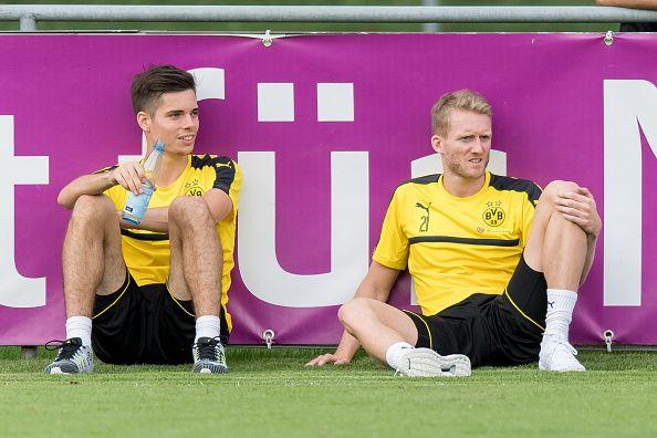 Bad Ragaz Schweiz Trainingslagver BV Borussia Dortmund BVB Julian Weigl und Andre Schuerrle