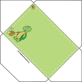 Turtle Envelope Invitations
