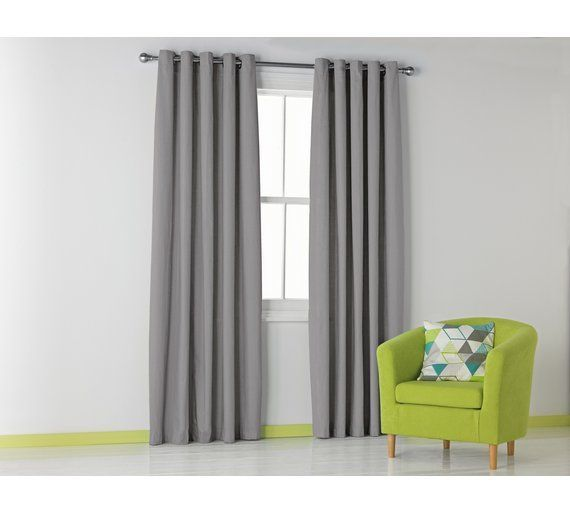 Buy HOME Blackout Thermal Curtains -117x137cm -Dove Grey at Argos.co.uk, visit Argos.co.uk to shop online for Curtains, Blinds, curtains and accessories, Home furnishings, Home and garden