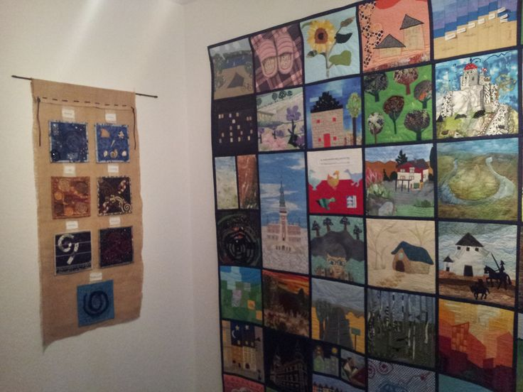 "... on display with the group work ""Spirals"" - by Mittwoch-Quilters from Riegelsberg, Germany"