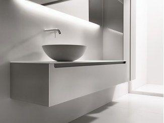 mueble bajo lavabo de vidrio esmerilado edge mueble bajo lavabo falper