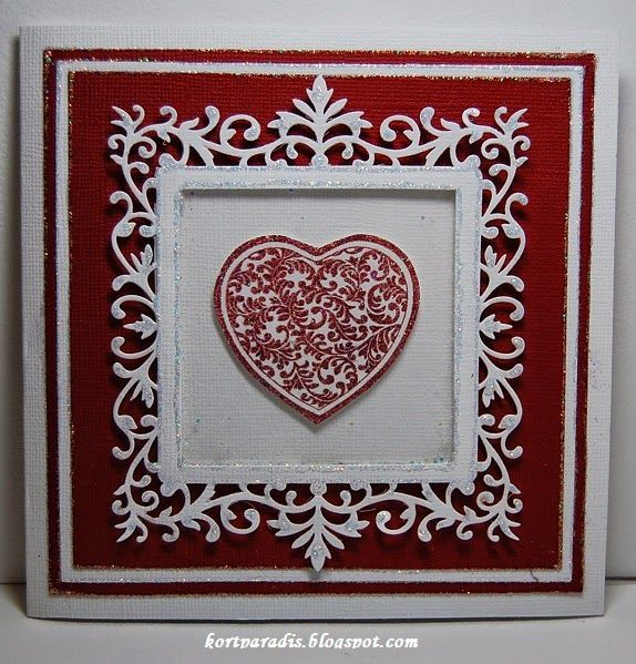 Wedding Weddingcard Scrapping Homemade Heart Valentine Valentinecard