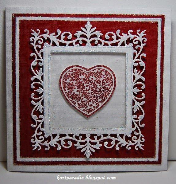 Wedding Weddingcard Scrapping Homemade Heart Valentine Valentinecard