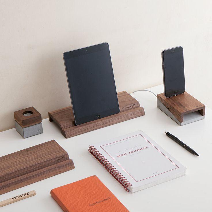 Tech-Accessoires aus Walnussholz