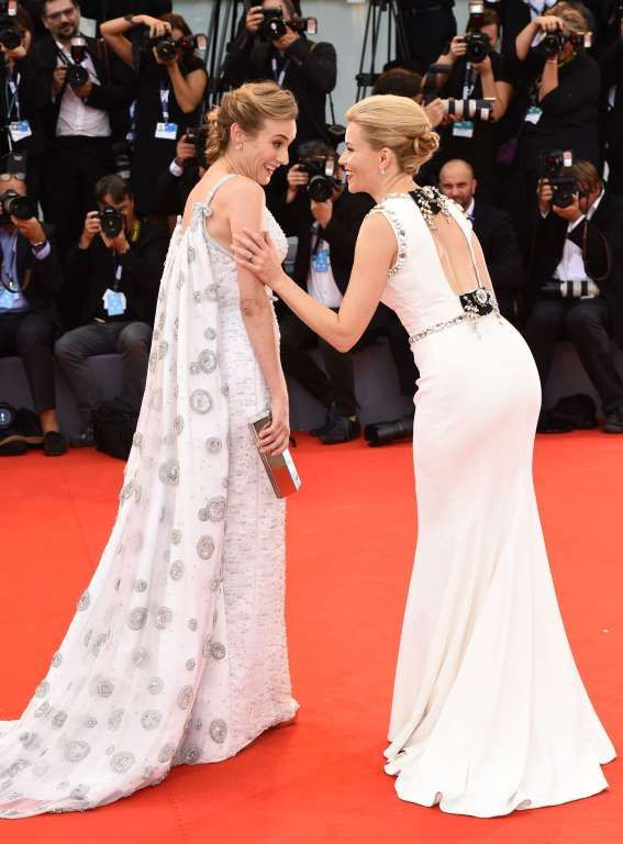 "Diane Kruger and Elizabeth Banks attend the ""Everest"" film premiere at the opening night of 72nd Venice Film Festival in Italy on Sep 2, 2015."