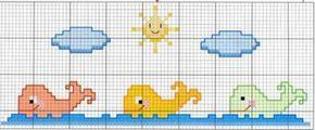 Patrones de punto de cruz para toallas de bebé - Imagui