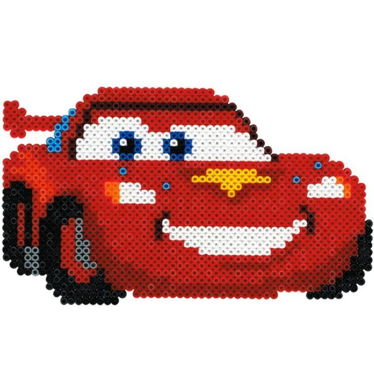 Hama 7938 - Bügelperlen Geschenkpackung Disney Cars, circa 4000 Perlen, 3 Stiftplatten und weiterem Zubehör