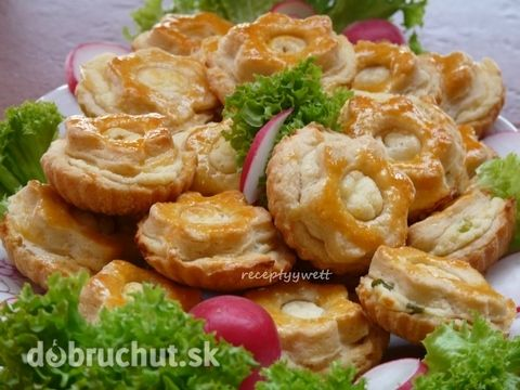 Fotorecept: Cesnakovo-bryndzové košíčky