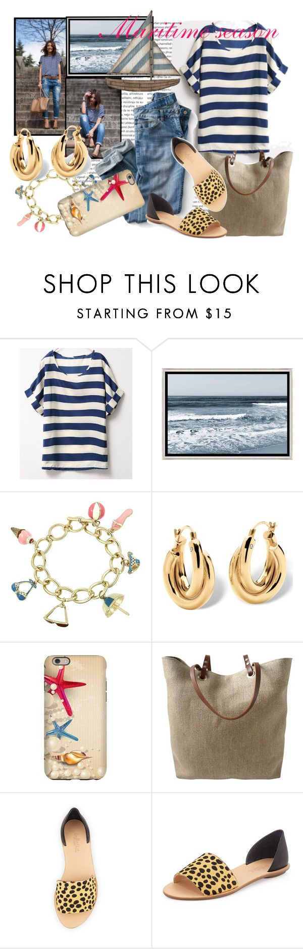 """Maritime season"" by tasha1973 ❤ liked on Polyvore featuring Barclay Butera, Palm Beach Jewelry, Independent Reign and Loeffler Randall"