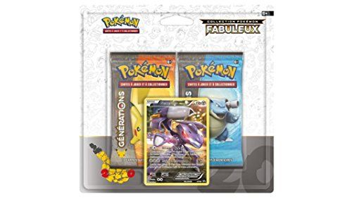 Pack 2 boosters Pokémon + Carte promo Genesect – XY – Générations: Pack 2 boosters Pokémon Générations + Carte promo Genesect: 110PV…