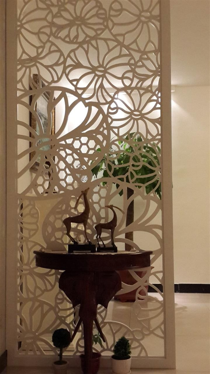 White living room style hollow porch fashion partition carved the decorative wall plate/simple Tung Flower panels/screens lattice