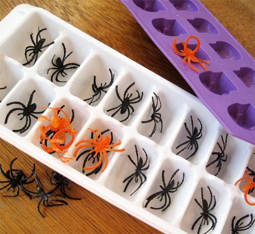 For squeal-inducing drinks: spider ice cubes.