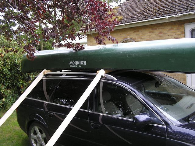 Canoe Roof Rack And One Man Loading System For Less Than £10