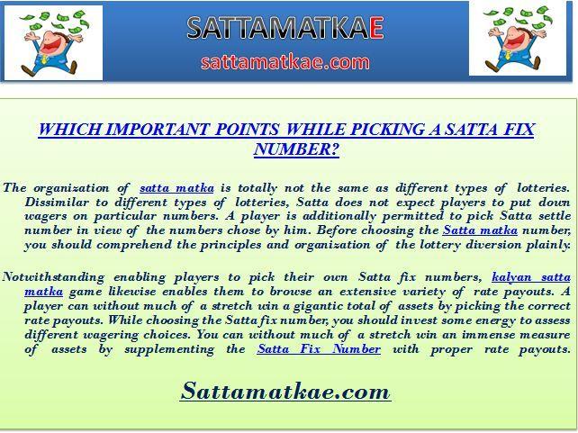 sattamatkae, Kalyan Matka Chart, fix satta matka number - Video Gambling Machines - India, UN
