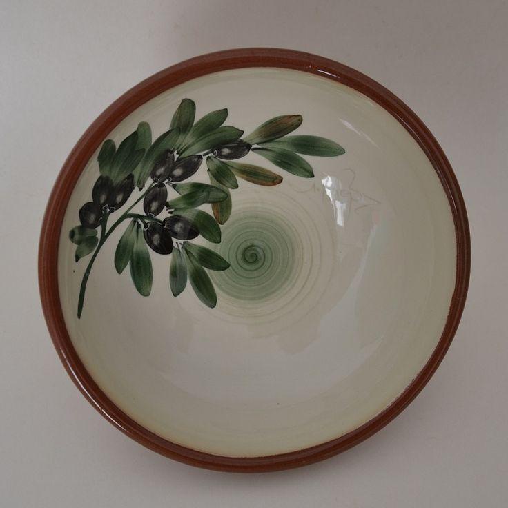 Ceramic Handmade Bowl 'OLIVE' 30cm Limberidis Ceramics