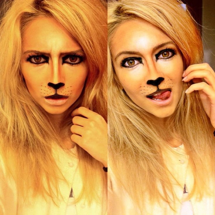 Halloween makeup lioness. Lion makeup for Halloween
