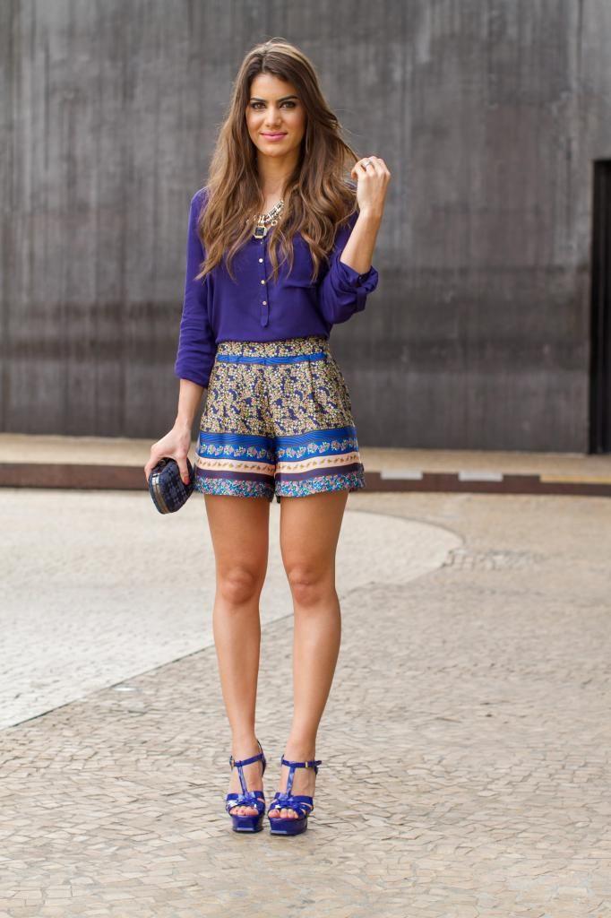 28/03/2013-Shorts: Asos / Camisa & Colar: Zara / Sandália: YSL / Anel: Lela Acessórios Adoro o look, adorei as cores!