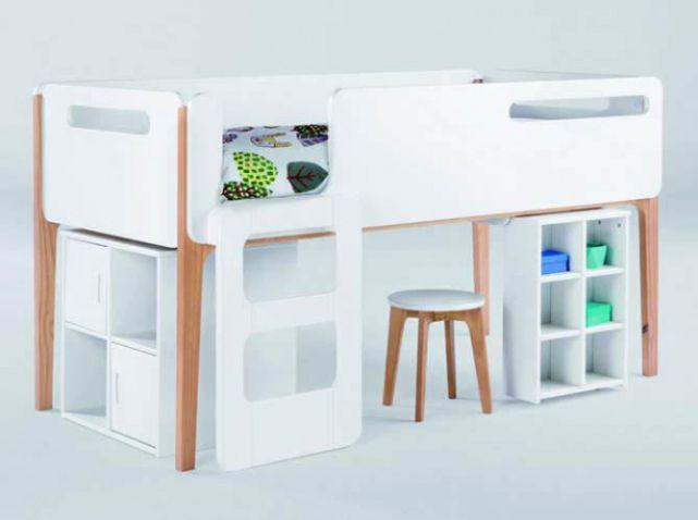 lit mezzanine enfant chambres d 39 enfants pinterest room and lights. Black Bedroom Furniture Sets. Home Design Ideas