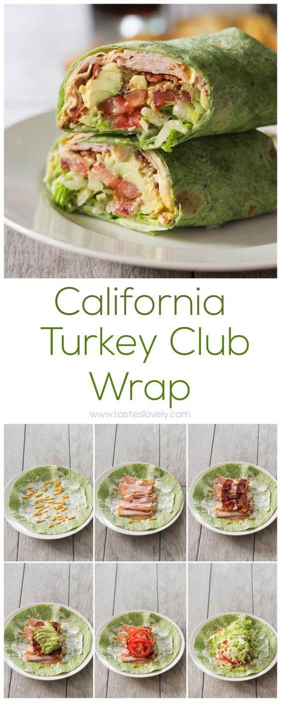 California Turkey Club Wrap - a delicious lunch! #OscarMayerNatural #sponsored (Metabolism Boost Lunch)