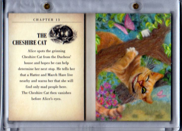 2016 UD Goodwin Champions THE CHESHIRE CAT Alice in Wonderland PAINTED BOOKLET!