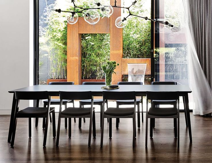 Black Stained Jutland Solid European Beechwood 280 x 100cm Dining Table by Mads Johansen for TON