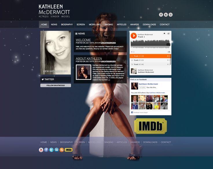 This is the site we created for actress, singer and model, Kathleen McDermott.  http://www.kathleenmcdermott.com