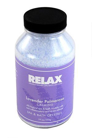 Lavender Palmarosa Aromatherapy Bath Crystals -22 Oz- Natural Aroma Therapy Dead Sea Salts for Hot Tubs, Spas & Whirlpools by Relax Spa & Bath. $9.95. Skin Softening Moisturizers - For Spas, Hot Tubs, Jacuzzi, & Whirlpool Bath - Spa Safe. Does Not Affect the pH or Water Chemistry - Safe for Children & Pets - Will Not Damage, Stain or Affect Equipment or Surface. Lavender Palmarosa - 22 Oz Bottle - All Natural, Aromatherapy Bath Crystals - Create Your Own Paradise...