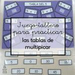 Juego-tablero para practicar las tablas de multiplicar