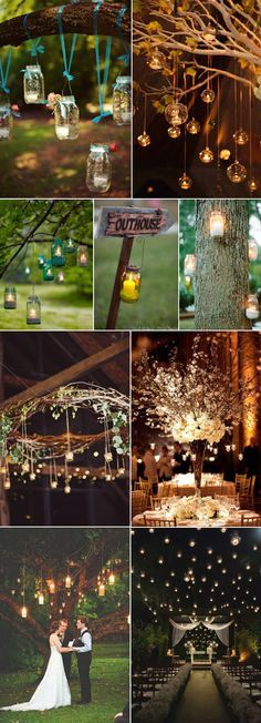 inspirational hanging candle lights wedding ideas