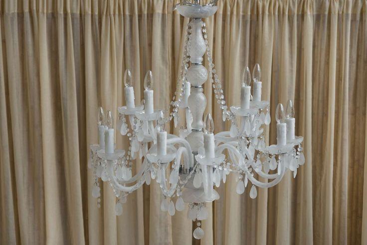 Light Element Royal, Πολυέλαιος κρυστάλλινος λευκός ματ.