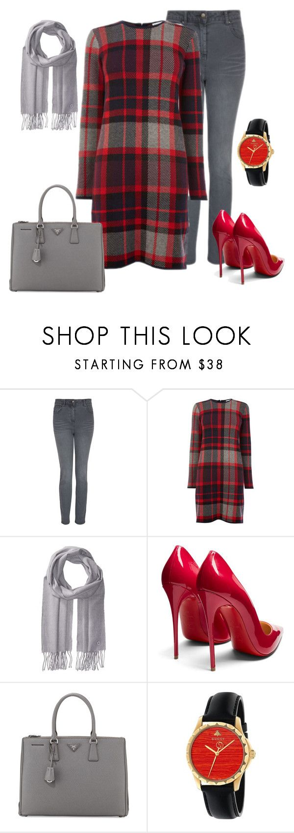 """""""Untitled #56"""" by asner-bond ❤ liked on Polyvore featuring Laura Ashley, Warehouse, Calvin Klein, Christian Louboutin, Prada and Gucci"""