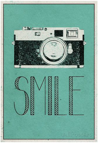 Smile Retro Camera Posters at AllPosters.com
