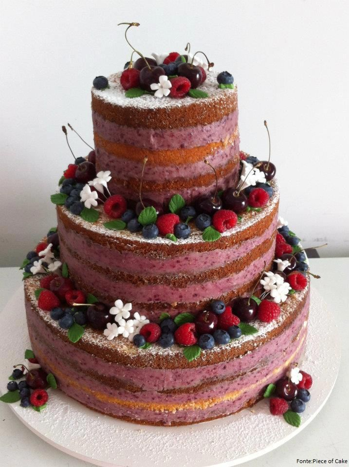 This is just stunning!  Love the berry frosting in between the layers.