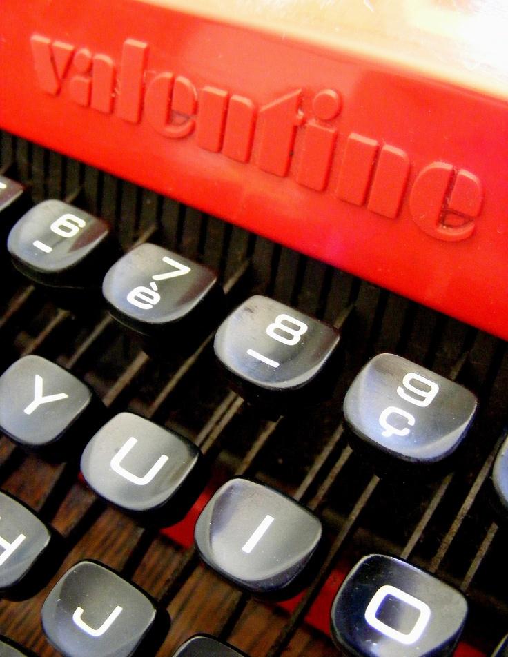 Valentine Portable Typewriter Designed By Ettore Sottsass