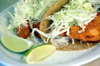 Baja Fish Tacos Recipe | Food Network