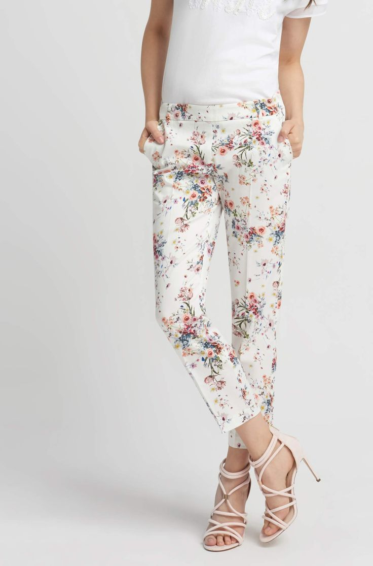 Pantaloni 7/8 cu model floral | ORSAY