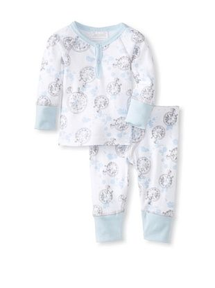 62% OFF Coccoli Baby Newborn Time To Dream Loungewear Set (Light Blue Compass Print)