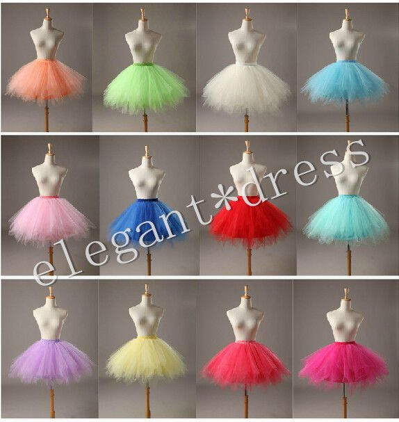 Ladyes Girls Dancewear Cute Tulle Petticoat Tutu Pettiskirt Princess Party Skirt