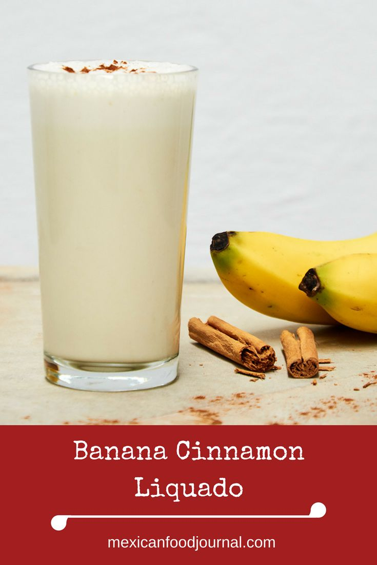 Classic Mexican licuado (batido) prepared with banana, milk, cinnamon, and sugar. Similar to a smoothie but not as thick. A quick nutritious breakfast at home or on the run.