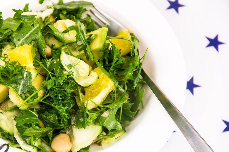 Grønn salat med smørbønner