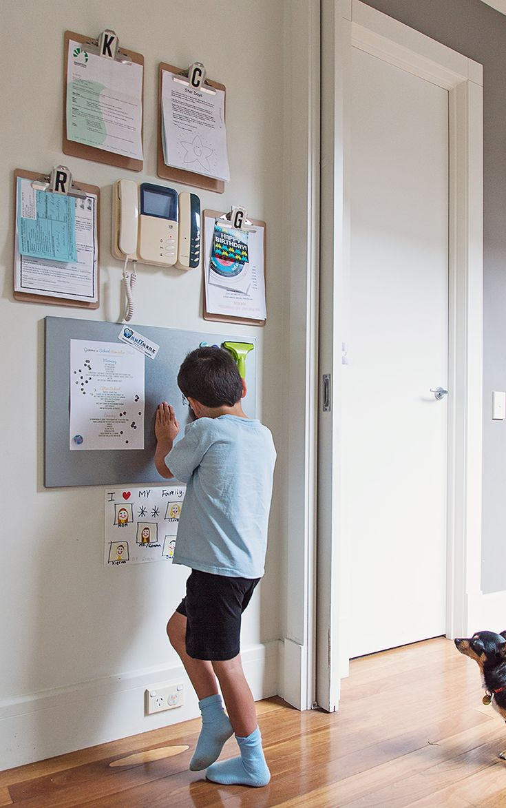Cheap and easy family organization wall system! :: Hanging my busy mom/blogger/photographer brain on the wall.