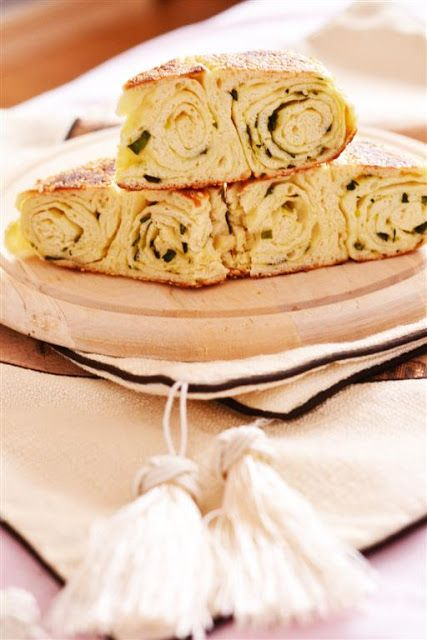 Chinese scallion bread-Painica cu ceapa verde 芝麻葱油大饼