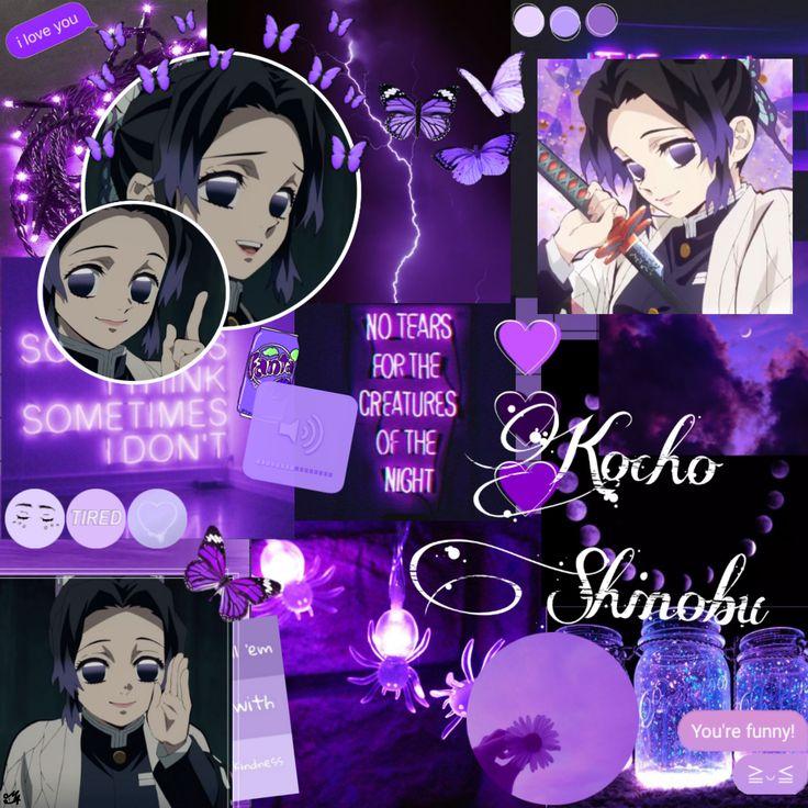 This page is about purple. #freetoedit #purple #kimetsunoyaiba #shinobukocho # ...