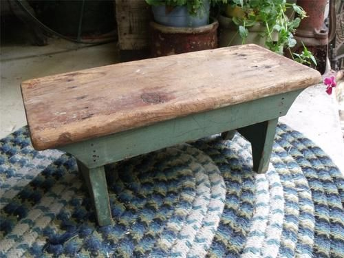Rustic Primitive Antique Foot Stool Footstool Barn Find Milking Stool WOW | eBay