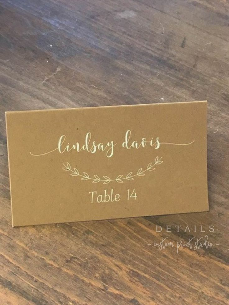 Wedding Place Cards, Simple Elegant Printed Placecards, Table Cards, Name Cards Calligraphy by DetailsonDemand on Etsy